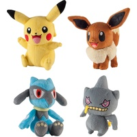 Pokemon Plush Assortment - Pikachu, Eevee, Banette, Riolu