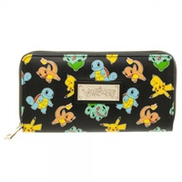 Pokemon Pikachu Charizard Squirtle Bulbasaur Envelope ZipAround Wallet Purse
