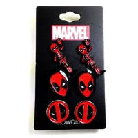 Deadpool Ear Ring 3 Pack