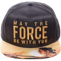 Star Wars May The Force Metallic Embroidered Satin Snapback Cap