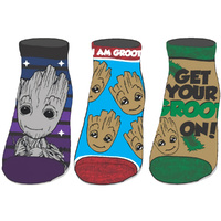 Guardians of the Galaxy I Am Groot 3 Pack Ankle Socks
