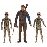 Ash vs Evil Dead Bloody Ash vs Demon Spawn 7-Inch Scale Action Figure 3-Pack