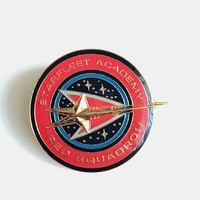 Star Trek: The Next Generation Red Squadron Logo Cloisonne Metal Pin