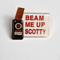 Classic Star Trek TV Series Beam Me Up Scotty Logo Metal Cloisonne Pin