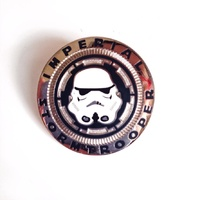 Star Wars Imperial Stormtrooper Helmet Cloisonne Metal Pin