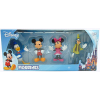 Disney Figurines Boxed Set 4 Pack (Donald, Mickey, Minnie, Goofy) 3""