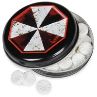 Resident Evil Umbrella Corporation Outbreak Mints in a logo tin