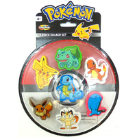 Pokemon Eraser Set 7 Piece Set