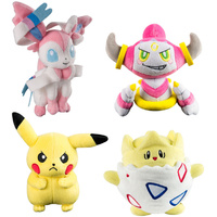 Pokemon Plush Assortment Sylveon, Pikachu, Hoopa, Togepi