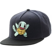 Pokemon Squirtle Color Black Snapback