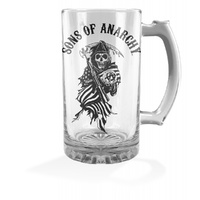 Sons of Anarchy 500ml Stein Glass