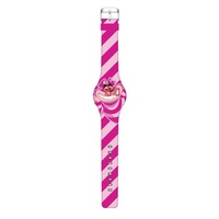 Alice In Wonderland Cheshire Cat Stripe LED Watch