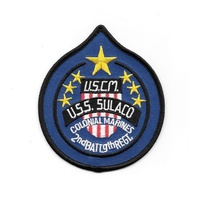 "Aliens Movie U.S.S. Sulaco Ship Logo Embroidered 4"" Patch"
