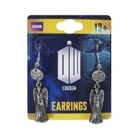 Doctor Who Weeping Angel Dangle Earrings