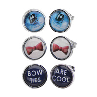 Doctor Who Stud Earrings 3-Pack