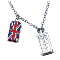 Doctor Who TARDIS Union Jack Necklace
