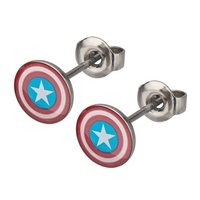 Captain America Shield Stud Earrings