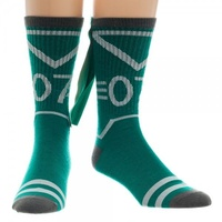 Harry Potter Mens' Slytherin Quidditch Crew Sock with Cape