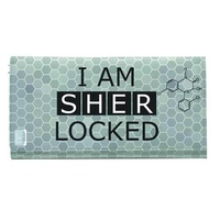 Sherlock I Am Sher Locked Gray Purse