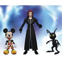Kingdom Hearts - Mickey, Shadow & Axel 3-Pack Series 01 Action Figure