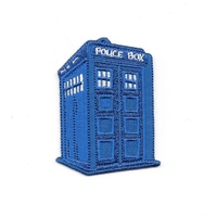 Doctor Who British TV Series Classic Tardis Die-Cut Embroidered Patch