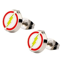Justice League Flash Logo Stud Earrings