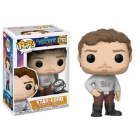 Guardians of the Galaxy: Vol. 2 - Star-Lord with Gear Shift Shirt US Exclusive Pop! Vinyl