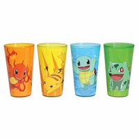 Pokemon 16 oz. Pint Glass with Color Package 4-Pack