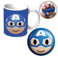 CAPTAIN AMERICA MUG & STRESS RELIEVER