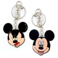Mickey Mouse Two-Sided Colored Pewter Key Chain