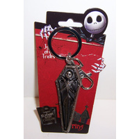The Nightmare Before Christmas Jack Skellington Coffin Pewter Key Chain