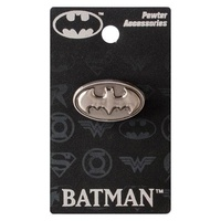 Batman Logo Pewter Lapel Pin