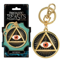 Fantastic Beasts and Where to Find Them MACUSA Gold Eye Pewter Key Chain