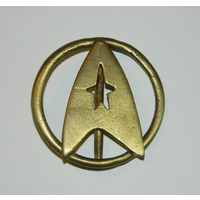 Star Trek Classic Movie Uniform Aged Brass Belt Buckle
