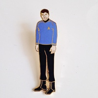 Star Trek Classic TV Dr. McCoy Figure Cut Out Enamal Metal Pin