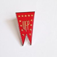 Star Trek Classic TV Series UFP Red Banner Enamel Metal Pin