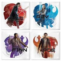 Star WarsL Resistance 4 Glass Coasters