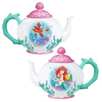 The Little Mermaid Ariel and Flounder Ceramic Teapot