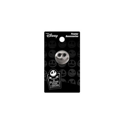 Nightmare Before Christmas Jack Skellington Head Pewter Lapel Pin