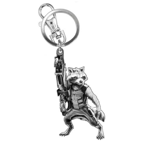 Guardians of the Galaxy Rocket Raccoon Figural Pewter Key Chain