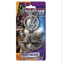 Marvel Rocket Raccoon Head Pewter Key Ring