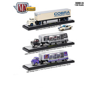 M2 Machines Auto Haulers 1:64 Scale Release 24, 3 Trucks Set
