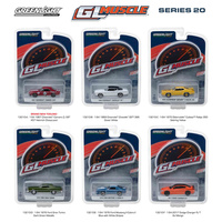 Greenlight Muscle Series 20, 6pc Set 1/64 Diecast Model Cars