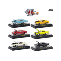 M2 Machines Detroit Muscle 1:64 Scale Release 42 6pc Diecast Car Set In Display Cases