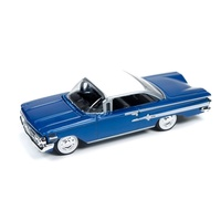 Racing Champions 1960 Chevy Impala Royal Blue 1:64 Diecast