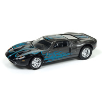 Johnny Lightning 1:64 Scale Street Freaks - 2005 Ford GT (Black with Flames)