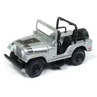 Johnny Lightning 1:64 Scale Classic Gold - Jeep CJ-5 Silver and Black