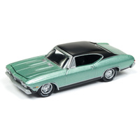 Johnny Lightning 1:64 Scale Classic Gold - 1968 Chevrolet Chevelle SS Grecian Green Metallic