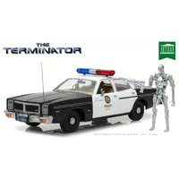 Terminator: 1977 Dodge Monaco (With Endoskeleton) Greenlight 1:18 Scale