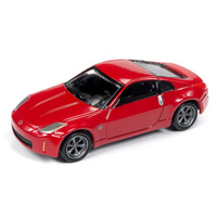 Johnny Lightning 1:64 Scale Classic Gold Collections Release 4 Set B 2004 Nissan 350Z Gloss Red